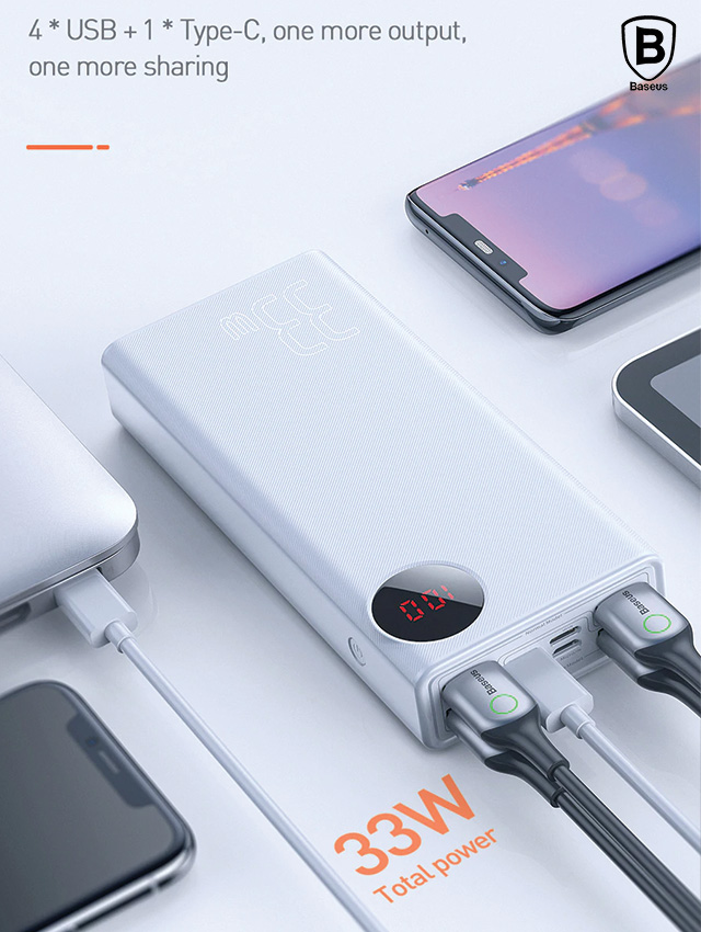 Baseus Mulight Quick Charge Power Bank